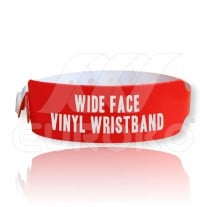 VINYL Wide Face Wristbands 30mm